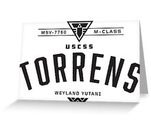 USCSS Torrens Greeting Card