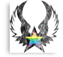 winged rainbow starz Metal Print