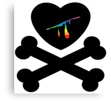 heart and crossbones Canvas Print
