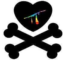 heart and crossbones Photographic Print