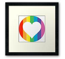 rainbow hearts Framed Print
