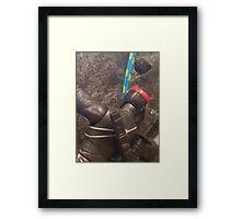 Foot Soldier Rock Climbing Framed Print