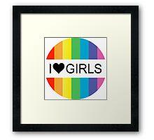 i heart girls Framed Print