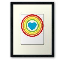 vintage rainbow heart Framed Print