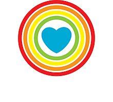 vintage rainbow heart Photographic Print