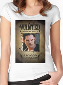 Buffy Xander Wanted 1 Women's Fitted Scoop T-Shirt