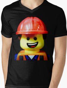 Hard Hat Emmet Mens V-Neck T-Shirt