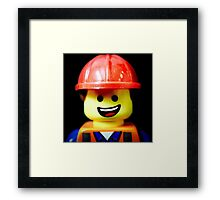 Hard Hat Emmet Framed Print