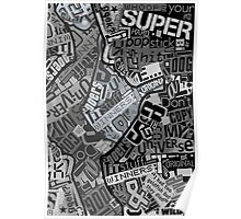 Typography Grayscale Poster