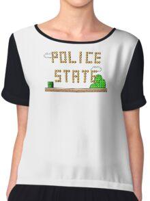 Police State Chiffon Top