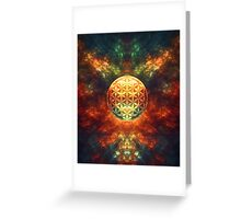 Centered Reality (Flower Of Life) Greeting Card