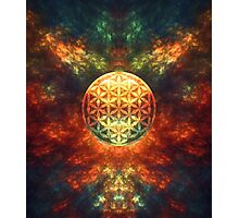 Centered Reality (Flower Of Life) Photographic Print