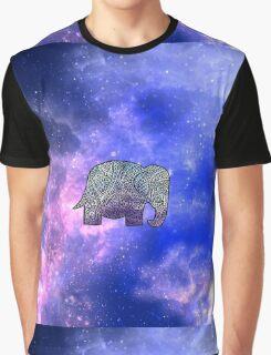 Elephant Design Graphic T-Shirt