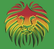 Like a Lion, Reggae, Rastafari, Africa, Jah, Jamaica,  One Piece - Short Sleeve