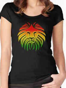 Like a Lion, Reggae, Rastafari, Africa, Jah, Jamaica,  Women's Fitted Scoop T-Shirt