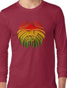 Like a Lion, Reggae, Rastafari, Africa, Jah, Jamaica,  Long Sleeve T-Shirt