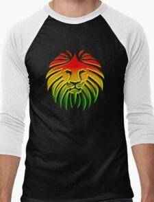 Like a Lion, Reggae, Rastafari, Africa, Jah, Jamaica,  Men's Baseball ¾ T-Shirt