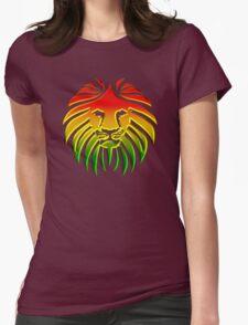 Like a Lion, Reggae, Rastafari, Africa, Jah, Jamaica,  Womens Fitted T-Shirt