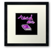 Read Me in Purple Framed Print