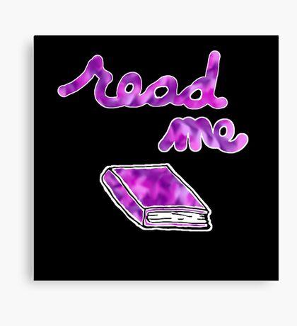 Read Me in Purple Canvas Print