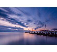 Sunrise at Wellington Point Jetty, Queensland, Australia Photographic Print