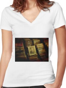 Remember the Fallen Women's Fitted V-Neck T-Shirt