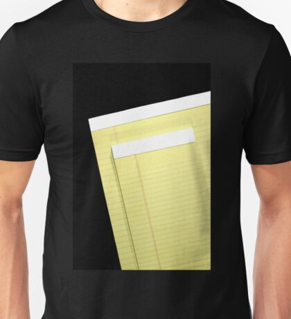 Notepads Unisex T-Shirt