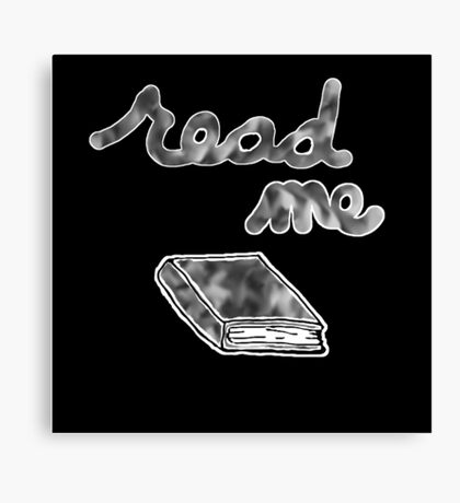 Read Me in Grayscale Canvas Print