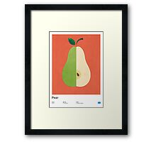 Pear (orange) - Natural History Fruits Framed Print