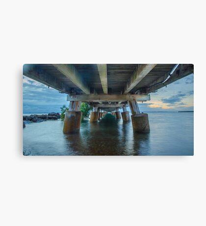 Underneath Wellington Point Jetty, Queensland, Australia Canvas Print