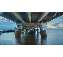 Underneath Wellington Point Jetty, Queensland, Australia Photographic Print