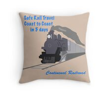 Vintage Train Travel Throw Pillow