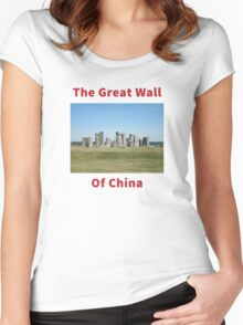 The Great Wall of China Women's Fitted Scoop T-Shirt