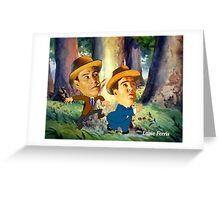 Abbott & Costello Greeting Card