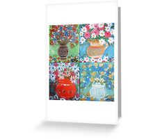 lots of spring flowers Greeting Card