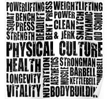 Physical Culture (Word Map) Poster