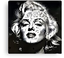 Marilyn Monroe Black & White Pop Art Design Canvas Print