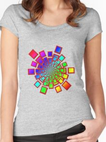 Colorful Square Fractal 61716 Women's Fitted Scoop T-Shirt