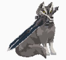 Pixel Souls - Sif, The Great Grey Wolf by Tande