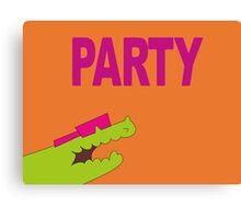 Lee's PARTY gator - Gravity Falls Canvas Print