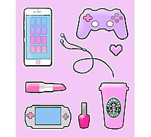 Gamer Girl Starter Kit Photographic Print