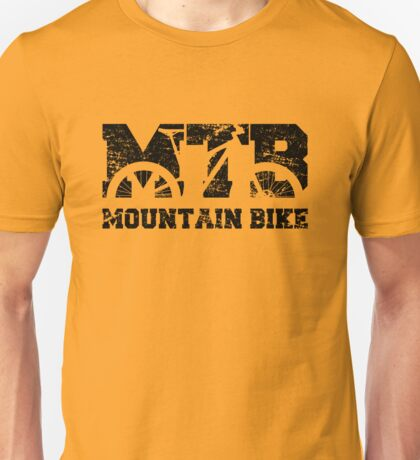 Mountain Bike Vintage MTB Distressed Design Unisex T-Shirt