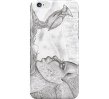 Cardinal in winter. iPhone Case/Skin