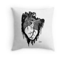 Psycho Heart (Black) Throw Pillow