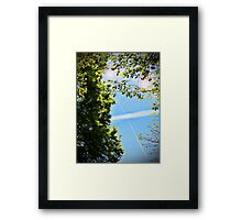 Contrail of the Cross Framed Print