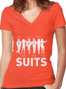 SUITS Women's Fitted V-Neck T-Shirt