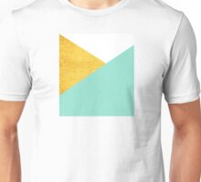 Gold & mint geometry Unisex T-Shirt