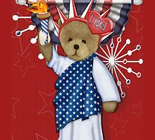 Patriotic Liberty Bear by SpiceTree