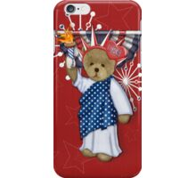 Patriotic Liberty Bear iPhone Case/Skin