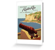 Vintage poster - Puerto Rico Greeting Card